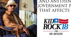 Kid Rock has a simple message for Michigan voters... Lets Do It, Let It Be, Us Senate, The Right Stuff, Kid Rock, Set You Free, Music Stuff, I Love Him, Stand Up