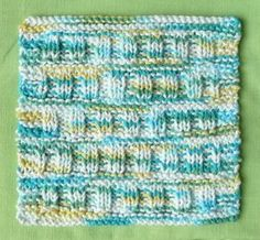 Perfect One-Ounce Dishcloth - FREE Patterns: FREE PATTERN #9 - ROMAN ROWS One-Ounce Dishcloth