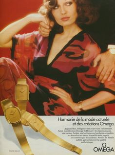Omega Watch Company Switzerland Vintage 1975 Swiss Ad