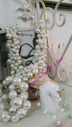 Collane di perle girocollo vetrinetta #sabinanosmokingsibijou