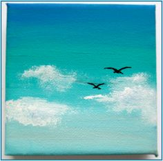 Mini canvas Art. Painting a feeling or emotion