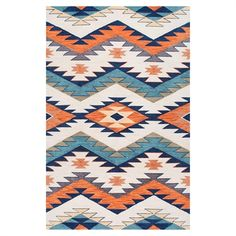 nuLOOM BHAK01A Multicolor Hand Hooked Tribal Rhona Area Rug