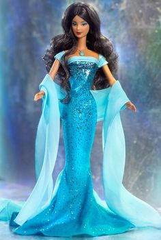 Looking for the December Turquoise Barbie Doll? Immerse yourself in Barbie history by visiting the official Barbie Signature Gallery today! Play Barbie, Barbie I, Barbie World, Barbie And Ken, Barbie Gowns, Barbie Dress, Barbie Clothes, Beautiful Barbie Dolls, Barbie Collector