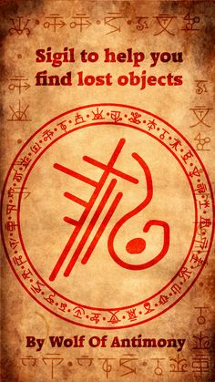 Sigil to help you find lost objects