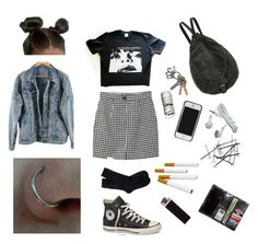 Twisted & Confused by mcmondays on Polyvore featuring polyvore, moda, style, Monki, J.Crew, Converse, Deux Lux, H&M, Tory Burch, fashion and clothing