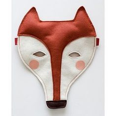 fox mask  - inspiration only - this was apparently a finished project sold on Etsy (https://www.etsy.com/ca/transaction/107364580?)