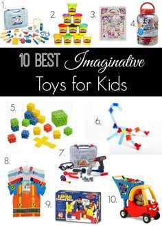 If your kids spend too much time on screens and electronic toys, you have to check out this list of the 10 best imaginative toys for kids! Toddler Toys, Kids Toys, Musical Toys For Kids, Imagination Toys, Stacking Toys, Pull Toy, Kids Board, Electronic Toys, Bath Toys