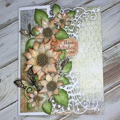 Sunflower card with tutorial by Liz Walker