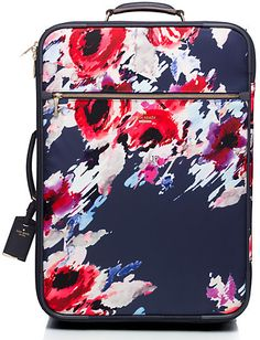Classic nylon international hazy floral carry-on
