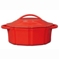 Isaac Mizrahi 6 qt Cast Iron Dutch Oven with Lid  Red >>> Check out this great product by click affiliate link Amazon.com