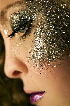 """ her nose was odd shaped but the glitter took away her imperfections """