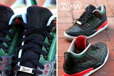 new product d436e 84874 Dank Customs X Absolelute Air Jordan 3 (Gucci) - Sneaker Freaker