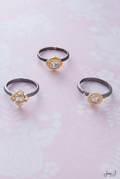 The perfect trio. #rings #jewelry #gold