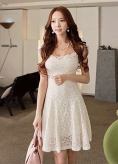 Today's Hot Pick :Lace Frilly Dress http://fashionstylep.com/SFSELFAA0000353/bapumken1/out High quality Korean fashion direct from our design studio in South Korea! We offer competitive pricing and guaranteed quality products. If you have any questions about sizing feel free to contact us any time and we can provide detailed measurements.