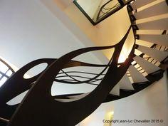 Escalier design débillardé d'inspiration Art Nouveau, dessiné et mis en forme par Jean Luc Chevallier pour La Stylique