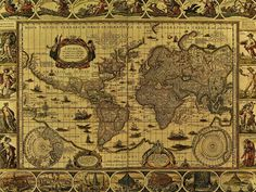 Old World Maps Here There Be Dragons What google maps would look galleryhip.com