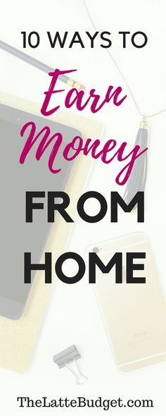 10 Ways to Make Money From Home Earn More Money, Ways To Earn Money, Earn Money From Home, Money Tips, Money Saving Tips, Way To Make Money, Make Money Online, Work From Home Moms, Online Jobs