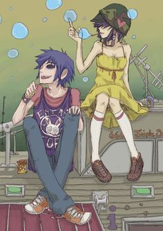 2-D and Noodle Gorillaz
