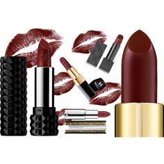 Dark Lips the best Burgundy lipsticks ❤ liked on Polyvore featuring beauty, makeup and backgrounds