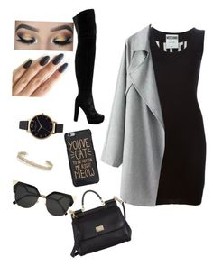 Sem título #43 by madqueenperfect on Polyvore featuring polyvore, fashion, style, Moschino, Alice + Olivia, Dolce&Gabbana, Olivia Burton, Maison Margiela, Fendi and clothing
