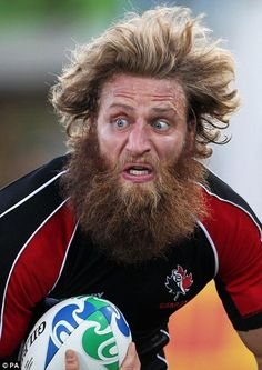 """Canadian rugby star Adam Kleeberger grew his beard for eight months, and it made him the best-known player in Canada's rugby team. """