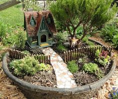 Here comes another perfect fairy land mini garden which is equally luring for your kids as well. This perfectly designed mini garden is a blend of expertise and perfection. A circular giant clay pot is the base of mini garden, a hard pathway is leading to the small hut house which is having all the glory in its stature and perfectly a splendid premises. A wooden fence is dividing the garden in two equal parts, the garden is full of plants, and a girl is enjoying the sunlight right beneath a…