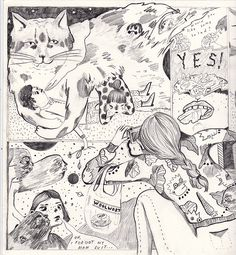 Collaborative comic by Aaron Billings and Julia Trybala