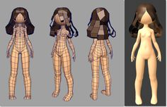 Low poly girl. Personal Notes: [Topology works except the face. May need to rework the triangles if you didn't want triangles.]