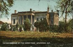 http://www.cardcow.com/images/set337card00143_fr.jpg   Lots of history about life on a plantation.    http://ltc4940.blogspot.co.uk/2014/01/the-hermitage-in-savannah-georgia.html