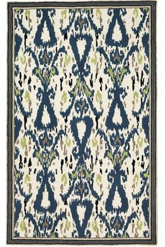 Try adding this trendy ikat rug to your home decor for a modern feel.  Martha Stewart Living™ Ikat Pendant Area Rug