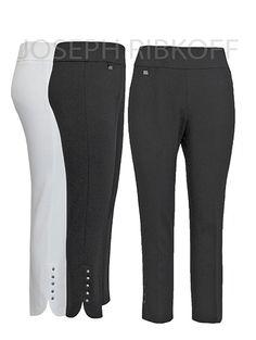 Joseph Ribkoff Pants | Available in Black or White | Stretch.  #josephribkoff