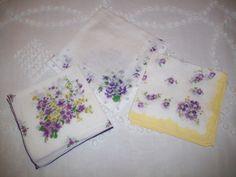 Handkerchiefs  Vintage by aPrairiePeddler on Etsy, $13.00