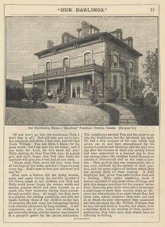 1885 Our Darlings article on Hazelbrae, Peterborough, Ontario - original held by the BHCARA