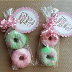 Donut Birthday Parties, Donut Party, Birthday Party Favors, Baby Birthday, Turtle Birthday, Turtle Party, Luau Party, Soap Favors, Shower Favors