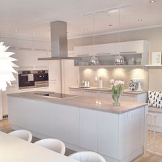 Love looking for great white kitchen decorating ideas? Check out these gallery of white kitchen ideas. Tag: White Kitchen Cabinets, Scandinavian, Small White Kitchen with Island, White Kitchen White Witchen Countertops Home Kitchens, White Kitchen Remodeling, Kitchen Remodel Small, Kitchen Design, White Modern Kitchen, Kitchen Decor, Kitchen Interior, Farmhouse Kitchen Remodel, Home Decor