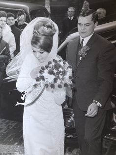 Marriage: Frances Kray and her brother Frankie Shea at her wedding in a photograph taken by David Bailey Gangster Wedding, Mustang, The Krays, David Bailey, Life Of Crime, Wedding Styles, Wedding Photos, Celebrity Weddings, Wedding Hairstyles