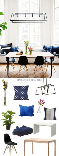 Copy Cat Chic: Copy Cat Chic Room Redo | Indigo Dining Room by @lindseyboyer