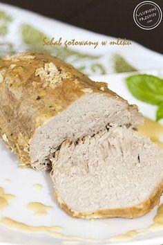 Schab gotowany w mleku Pork Recipes, Healthy Recipes, Kielbasa, Polish Recipes, Diet And Nutrition, Food Design, Banana Bread, Meal Planning, Good Food