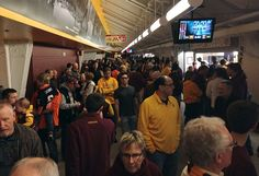 The packed concourse.