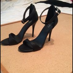 New black heels New black heels strap around ankle. Great for any event 4 in. Mossimo Supply Co Shoes Heels