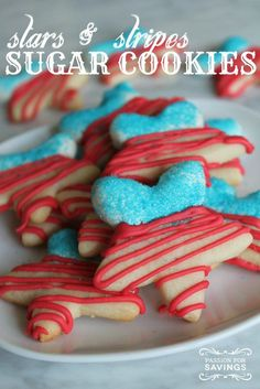 Patriotic Cookies! Easy Dessert Recipes for Memorial Day and 4th of July!