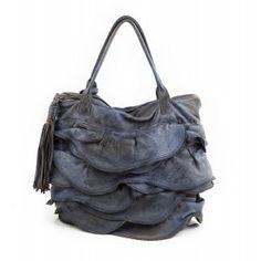 Bolso de piel Caterina Lucchi azul con volantes www.sanci.es Rebecca Minkoff, Blueberry, Bags, Inspired, Nature, Fashion, Ruffles, Blue Nails, Handbags