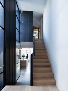 Gallery of Port Melbourne House by Pandolfini Architects. Located in Melbourne, VIC, Australia. Photographed by Rory Gardiner. Interior Stairs, Interior Architecture, Narrow House Designs, Journal Du Design, Cottage Renovation, Melbourne House, Victorian Cottage, The Design Files, Australian Homes