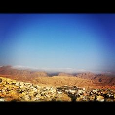 It lies on the slope of Mount Hor[3] in a basin among the mountains which form the eastern flank of Arabah (Wadi Araba), the large valley running from the Dead Sea to the Gulf of Aqaba.