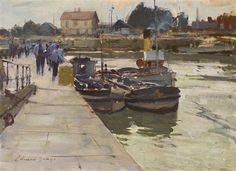Edward Seago | Boat By Quay'