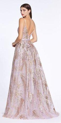 Cinderella Divine Rose Gold Long Ball Gown Dress Glitter Print Details Plunge V-Neckline Ball Gown Dresses, Prom Dresses, Bride Dresses, Formal Dresses, Funeral Dress, Dream Prom, Winter Formal, Latest Dress, Gold Dress