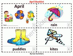 April - 2 Booklets - ENGLISH from Sue Summers on TeachersNotebook.com -  (6 pages)  - April - 2 Booklets - ENGLISH