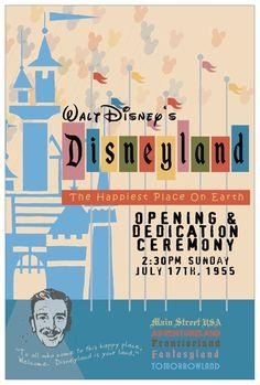 Disneyland - opening ceremony poster