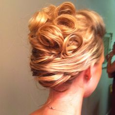 updos french twist with curls - Google Search
