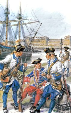 French royal marines, Seven Years War